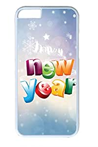 iPhone 6 Plus Case, iPhone 6 Plus Cover, iPhone 6 Plus (5.5 inch) Happy New Year Hard White Cases by Maris's Diary
