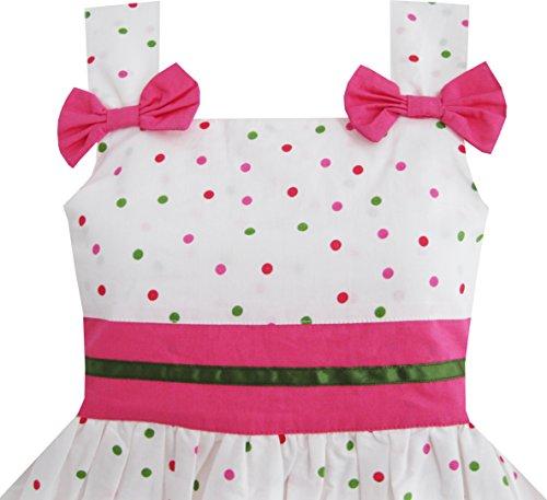 2 Ladybug Pink Fashion Pink Years Blue Clothing 8 Dot Sunny Dress Size Children Girls wgUCxZq