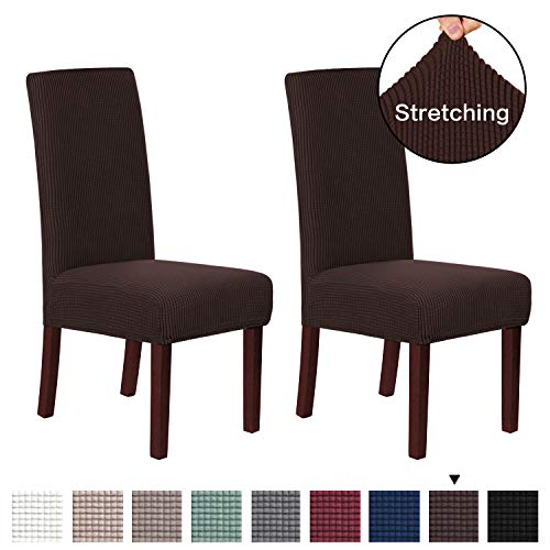 Jacquard Dining Room Chair Slipcovers Sets Stretch Chair Cover for Home Decor Dining Chair Slipcover Washable Removable…