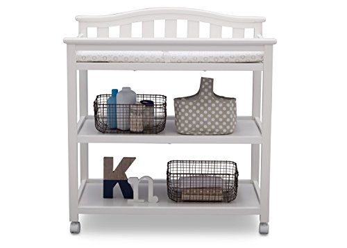 Delta Children Bell Top Changing Table with Casters, White by Delta Children (Image #4)
