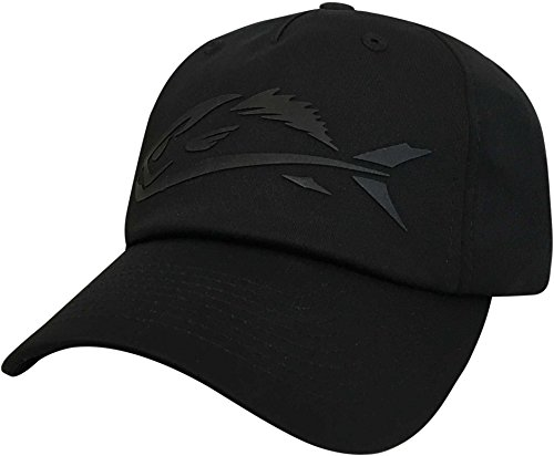 Field & Stream Mens Silicone Fish Icon Stretch Fit Hat - Black, ()