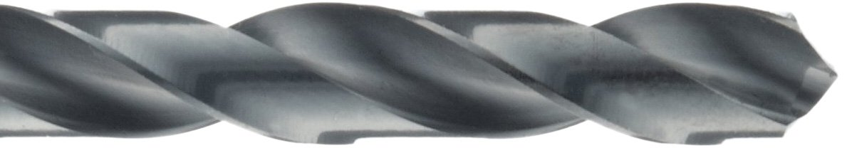 Round Shank with Tang Spiral Flute Precision Twist R51K High Speed Steel Long Length Drill Bit Pack of 1 Black Oxide Finish 118 Degree Notched Point 23//64
