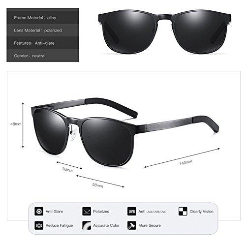 Color One de Gafas Plata Gafas de sol Gafas conducción conductor size del coloridas Unisex Aluminium Espejo Glasses sol de Magnesium tamaño Brown Polarized TwqpS