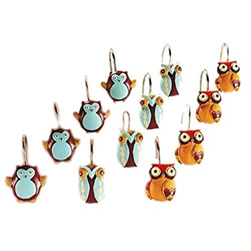 Set Owl Shower Curtain Hooks product image