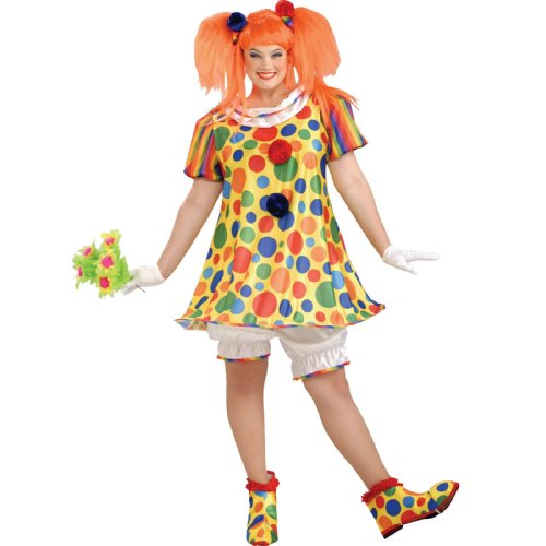 Adult Plus Giggles the Clown Costume
