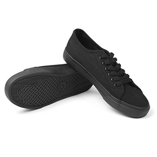 Soulcal Mens Sunrise Lace Up Canvas Lo Shoes Scarpe Da Ginnastica Nero / Nero