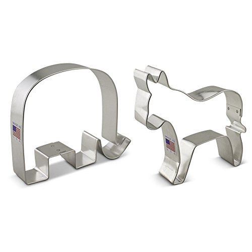 Ann Clark Political Election Cookie Cutter Set - 2 Piece - GOP Elephant and Democratic Donkey - Tin Plated (Political Elephant)