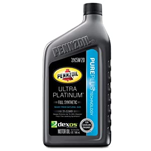 Pennzoil 550040863 Ultra Platinum 5W-20 Full Synthetic Motor Oil - 1 Quart