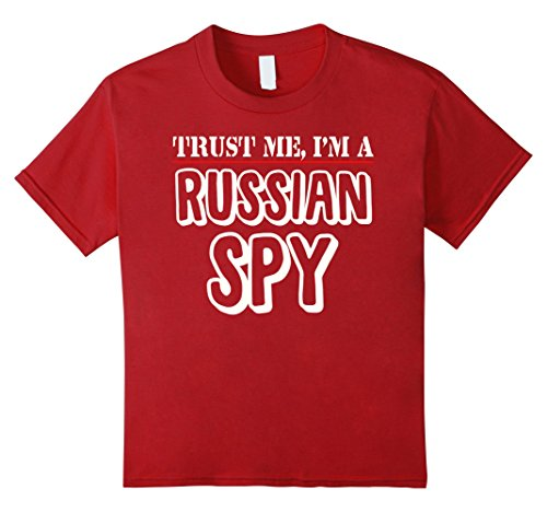 Russian Spy Halloween Costumes (Kids Trust Me I'm A Russian Spy T-Shirt 4 Cranberry)