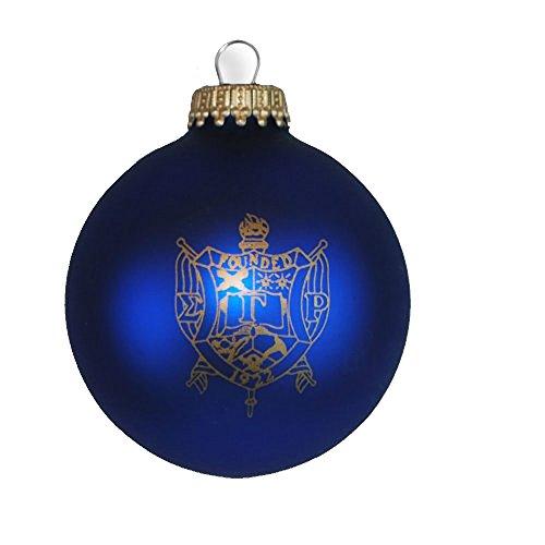 Express Design Group Sigma Gamma Rho Glass Christmas Ornament (Ornament Christmas Crest)
