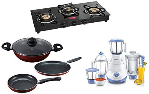 Prestige Kitchen Combo (Gas stove + Cookware + Mixer Grinder)