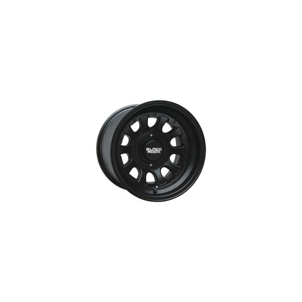 Black Rock Type D Alloy 17x8 Black Wheel / Rim 5x5 & 5x5.5 with a 0mm Offset and a 87.00 Hub Bore. Partnumber 909B 785345 Automotive
