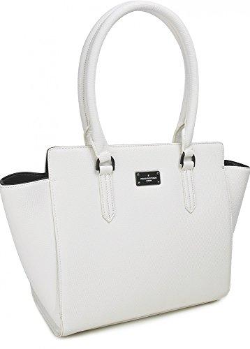 PAULS BOUTIQUE, ZOE, Damen Handtaschen, Schultertaschen, Shopper, Henkeltaschen, Weiß, 44 x 29 x 15 cm (B x H x T)