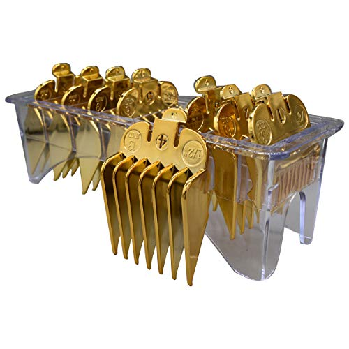 ZEROKIWI Hair Clipper Guard Combs Set #3170-400 with Clear Rack, 8 Packs 8 Lengths Guide Combs 1/8-1