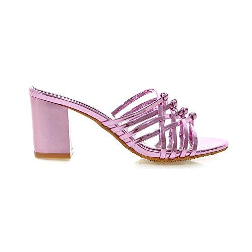 Fashion Heel - Zapatos con tacón mujer Rosa