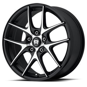 Motegi Racing MR128 Satin Black Wheel With Machined Flanged (17x7.5''/5x120mm, +45mm offset) by Motegi Racing (Image #3)