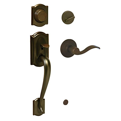 Schlage F93CAM613ACCRH Camelot Inactive Handleset with Accent Right-handed Lever, Oil-Rubbed Bronze