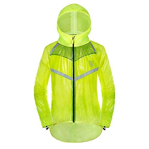 Aolvo Womens/Mens Waterproof Rain Suit Jacket Coat Waterproof Conjoined Hooded Rainwear,Satety Reflective Raincoat for Outdoor Bicycle,Mountain Bike,Motorcycle Camping, Fishing