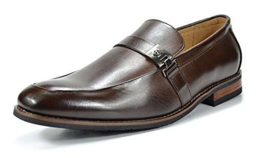 Bruno Marc Men's Charter-2 Dark Brown Leather Lined Dress Loafers Shoes – 8.5 M US