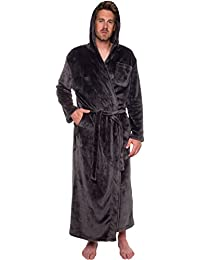 Mens Hooded Long Robe - Full Length Big   Tall Bathrobe 2891c22ba