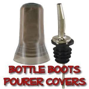 Bottle Boots, bug covers - 12 per package, black- Pourers not included by Bottles-Up