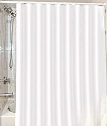 Mildew Resistant Shower Curtain Water-Repellent & Anti-Bacterial - 72x72 inch - White - by Utopia Bedding (White)