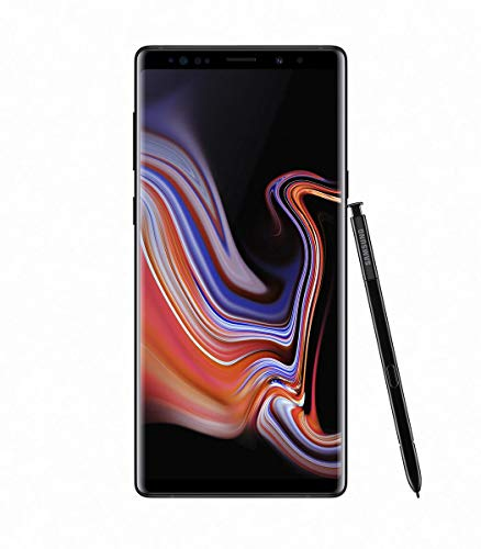 "Samsung Galaxy Note 9 SM-N9600 Dual SIM (128GB/6GB, Midnight Black) 6.4"" QHD+ sAMOLED Factory Unlocked GSM (No CDMA) - International Version (No Warranty)"