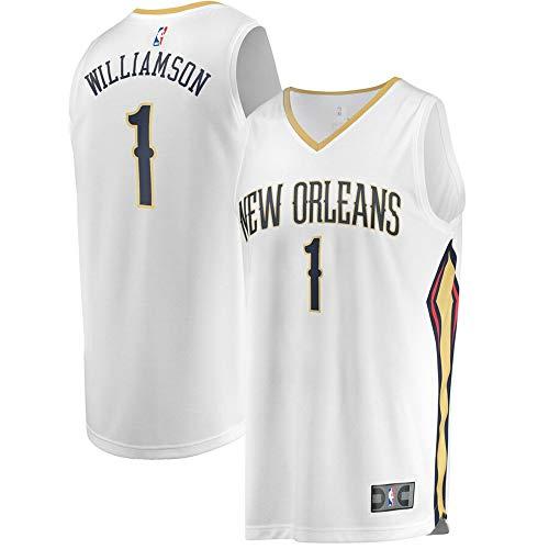Men's New Orleans Pelicans #1 Zion Williamson White 2019 Draft First Round Pick Fast Break Jersey - Association Edition - Nba 1st Draft Round