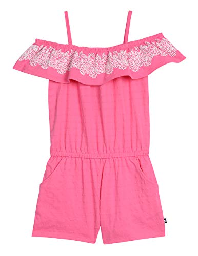 - Nautica Little Girl's Fashion Romper Shorts, stripe bright pink, 6X