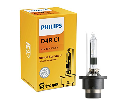 Philips D4R Standard Authentic Xenon HID Headlight Bulb, 1 Pack