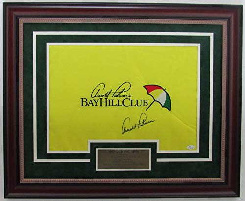 Arnold Palmer Signed/Autographed Bay Hill Club Framed Pin Flag JSA 139684 - Palmer Arnold Signed Photo