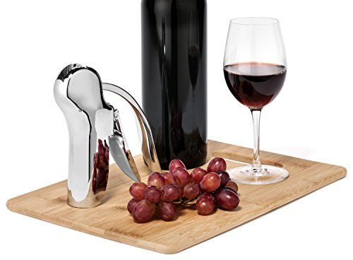 Essential Wine Gadget. Lever Corkscrew Wine Opener, Foil Cutter, Wine Pourer, and Aerator Christmas and Birthday Gift Set. Complete in Quality Presentation Box