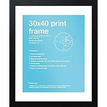 GB eye FMSEA1BK 40 X 30cm Flat Black MDF Frame