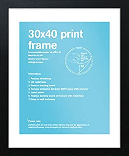 amazon com black art print poster frame 50x70cm by gb posters