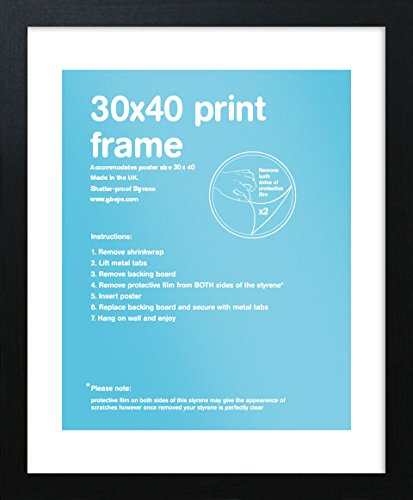 Gb Eye Eton Pdc Frame Black 30 X 40 Cm Amazoncouk Kitchen Home