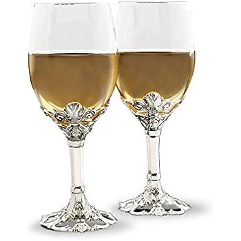 Fleur De Lis On Base Of Wine Glass