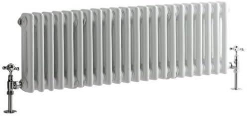 Traditional Anthracite 3 x 17 Column Radiator Milano Windsor Horizontal Cast Iron Style 600mm x 785mm
