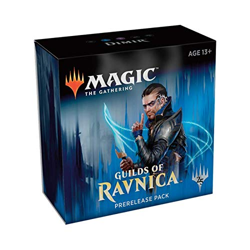 Magic The Gathering: MTG: Guilds of Ravnica Prerelease Pack Dimir (Pre-Pelease Promo + 6 Boosters + d20 Spindown Counter) Kit