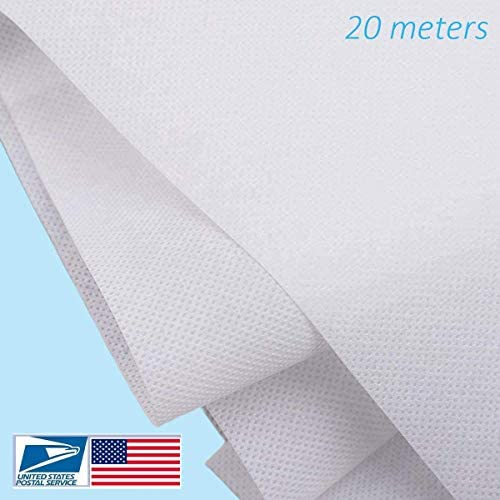 Waterproof Disposable Non-Woven Fabric, 95% Polypropylene Fabric, Thickened Breathable Skin-Friendly and Soft Fabric, DIY Handmade Material(20 Meters)