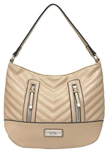 Hobo New Veronica Sand Miller One Nicole Size York beige Stitched Handbag q5Xwntg1