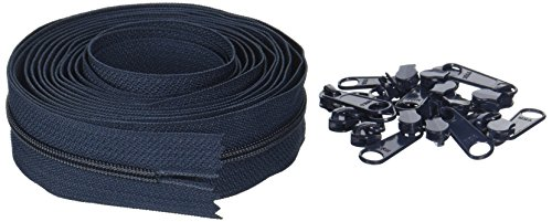 ByAnnie Zippers by Yard, Navy