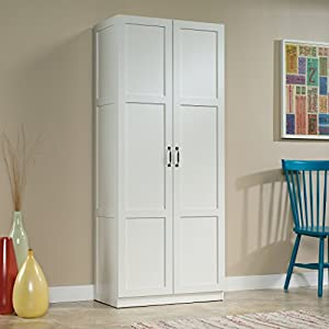 Amazon.com: Sauder Storage Cabinet, Soft White Finish: Kitchen ...