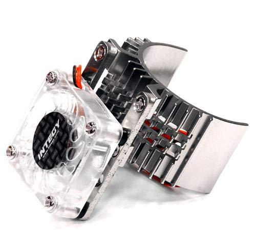 - Integy RC Model Hop-ups T8074SILVER Motor Heatsink 540 Size w/Cooling Fan for Slash Stampede 2WD Rustler 2WD Bandit