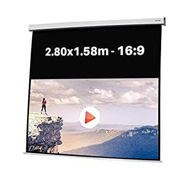 PANTALLA ELECTRICA DE PROYECCION 2,80x1,58m Formato 16:9: Amazon ...
