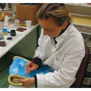 Antartidee Appendiabiti da Parete Gancio DX Nero Decorato a Mano