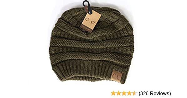 61454bccc9d Women s Classic CC Beanies One Size Army at Amazon Women s Clothing store