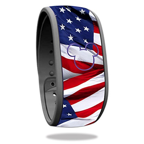 MightySkins Skin Compatible with Disney MagicBand - Patriot | Protective, Durable, and Unique Vinyl Decal wrap Cover | Easy to Apply, Remove, and Change Styles | Made in The USA]()
