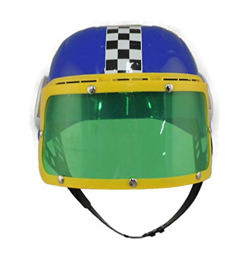 Jacobson Hat Company Childrens Plastic Racing Stock Car Driver Costume Helmet Blue -