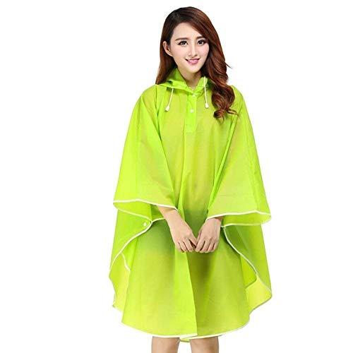 Veste De Imperméable Dame Parka Transparent Femmes Poncho Pour Grün Raincoat Hooded Moto Casual Rain Pluie wFzrw