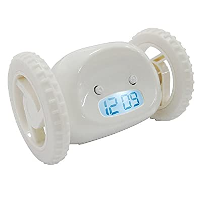 GGYY(TM) Funny Runaway Alarm Clock on Wheels Cute Alarm Clock for Heavy Sleepers/Kids/Lover/Family etc
